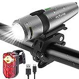 PUTARE 【2020 Neuestes Modell】 Fahrradlicht Set,StVZO USB Wiederaufladbare Fahrrad Licht,Mit 2...
