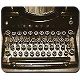KKs-Shop Mauspad aus Gummi, rutschfest, für Schreibmaschine, Vintage, Mauspad