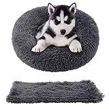 rundes Haustierbett und Haustierdecke für Katzen und Hunde 2 Stücke Hundebett Katzenbett mit Decke...