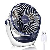 USB Ventilator, OCOOPA Ventilator klein Tischventilator mit starkem Luftstrom und Leise Betrieb 3...