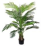 Arnusa Künstliche Palme 135cm Real-Touch Kunstpalme Künstliche Pflanze Zimmerpflanze Deko Pflanze