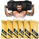 RELAX4LIFE Sandbag 4,5-27 kg, Gewichtssack mit 6 Gummigriffe, Trainingssandsack inkl. Oxford-Tasche,...