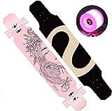SHLYXY Longboard Skateboard Skateboard Ahornholz Longboards Mit LED Blinkräder Standard Skateboards...