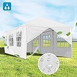 Hengda 3x9m Pavillon UV-Schutz wei Partyzelt Material PE-Plane Gartenzelt Hochwertiges mit 8...