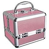 iGadgitz Home U7036 - Aluminium Kosmetikkoffer, Schminkkoffer, Beautycase, Makeupbox - 4x...