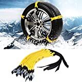 SKIESOAR Schneeketten für Autoreifen, 185–225 mm, universal, verbreiterte Reifen, Schneeketten,...