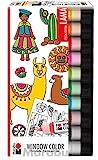 Marabu 0406000000126 - Window Color fun & fancy, Lama, Transparentfarbe auf Wasserbasis, für glatte...