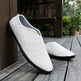 QIMITE Canvas Shoes,Herren Atmungsaktive Freizeitschuhe Hanf Espadrille Fisherman Leinen Slipper...