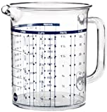 Emsa 2217100000 Messbecher, Superline, Füllvolumen 1 Liter, Transparent, Kunststoff, Maßkanne