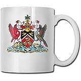 Trinidad und Tobago National Emblem Keramik Kaffeetasse für Büro und Zuhause maximale Kapazität...