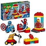 LEGO 10921 DUPLO Super Heroes Marvel Iron Mans Labor-Treffpunkt, Set mit Spider-Man, Iron Man und...