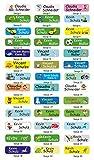 INDIGOS UG® Namensaufkleber - Sticker - Namen - 5x1,5 cm - 60 Stück für Kinder, Schule und...