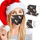 Waselia 10 Stück Weihnachts Mundschutz_Einweg Erwachsene Mischen und Anpassen Mouth Cover Mund und...