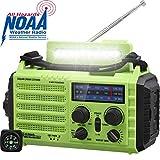 NOAA/AM/FM/SW Baustellenradio, Tragbares 5-Wege Wetter Radio mit Solar,Dynamo Handkurbel,Power...