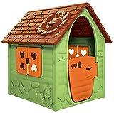Dohany Spielhaus Kinderspielhaus Gartenhaus Indoor Outdoor +2J (grün braun)