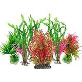 Aquarium Wasserpflanzen, PietyPet 7 Stck Groen Kunststoff Pflanzen Aquarium Aquariumpflanze Fisch...