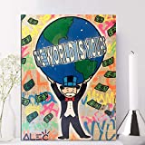 ZGZART Wandkunst Bilder ALEC Monopoly Leinwand Poster Graffiti Home Decor Modulare Welt Ihre Malerei...
