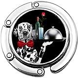 Geldbörse Haken Kellner Dalmatiner Hund Geschirr Wein Rose Klapphandtasche Tisch Kleiderbügel...