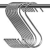30 Stück Haken zum Aufhängen, S-Form, Haken zum Aufhängen, verchromt, für Badezimmer,...