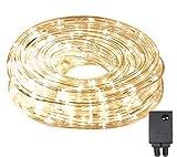 SALCAR LED Lichterschlauch 10m 240er LED Lichter mit 8 Modi Innen und Außenbereich Lauflichter für...
