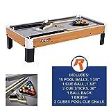 Tisch-Pool-Set mit Zubehör, 102x51x23cm - Miniatur-Billardtisch, Reisegröße mit Kugeln,...