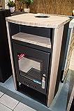 Haas+Sohn Kaminofen Vitorre 275.15 anthrazit/teak Sandstein 6 kW
