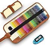 Buntstifte Set, 36 Brillanten Farben Bleistift Set mit Rollbaren Canvas Tasche für Kinder &...