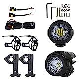 Renoble Motorrad Nebelscheinwerfer LED Zusatzscheinwerfer Zusatzlicht Blitzlichter Set Für...