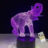 Rollende Nase Happy Elephant 3D Lampe USB Nachtlampe LED Lichter Kinder Geburtstagsgeschenk USB...