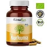 Kurkuma Kapseln hochdosiert Bio (180 Stck) 600mg Curcuma Pulver pro Kapsel - ohne Zustze - vegan -...