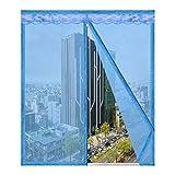 Insektenschutz-Fenster mit Reißverschluss, selbstklebend, für Zuhause, Schlafzimmer, Küche,...