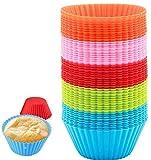 50 Stück Silikon Cupcake Wiederverwendbare Muffinförmchen Cupcake-Formen Backform...