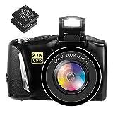 Digitalkamera Fotoapparat Digitalkamera 48MP 2,7K Kompaktkamera 3,0-Zoll-Bildschirm Digitalkameras...