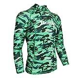 freneci Ultraleichtes Atmungsaktives Herren Swim Surfing Langarm Neoprenanzug Rash Guard Shirt - XXL