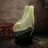 3D Nachtlicht Led Skates Illusion Lampe Dekoration Nachttischlampe Ideale Geschenke fr Kinder Jungen...