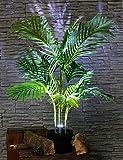 Dekolampe Palme Kunstpflanze beleuchtet Stehlampe Kunstpalme Knstliche Palme Zimmerpflanze