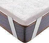BedStory Matratzentopper 90 x 200 cm, 5cm Höhe 7-Zonen Topper mit Abnehmbarer und Waschbarer Bezug,...