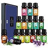 Homasy 16 x 5ml Ätherische Öle Set, 100% Rein Duftöl für Diffuser Luftbefeuchter, Aromatherapie...
