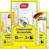 PIC Lebensmittel-Mottenfalle - Dreierpack = 6 Stück - Mittel zur Bekämpfung von Motten in der...