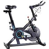 ANCHEER Heimtrainer Fahrrad mit APP, Leise und Leichtgängig Fitnessbike, Hometrainer Indoor Cycling...