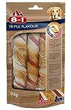 8in1 Triple Flavour Rolls Kaurollen für Hunde, Schweine- und Rinderhaut umwickelt mit...
