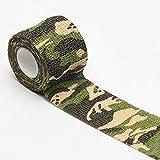MXCZ Selbstklebende Sport Fitness Elastic Bandage wasserdichte Notfallmedizin Gaze Tape Camouflage...