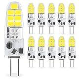 Yuiip G4 LED Lampe 2W Kaltesweiß 6000K SMD Glühbirnen Ersatz für G4 10W 20W Halogenlampen, 12V...