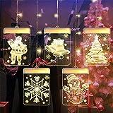 YJF-TYY 3D Weihnachtsdekoration LED-String-Raum-Dekoration Laterne Indoor Kleine Stern-Vorhang...