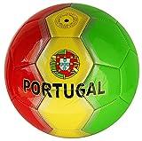 Fußball Portugal mit portugiesischer Flagge Größe 5 Farbe Grün / Gelb / Rot