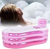 LOHOX Badewanne Aufblasbare Erwachsene Verdickungs-Aufblasbare PVC Faltbare Eimer mit...