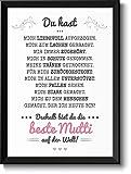Beste Mama Bild im schwarzem Holz-Rahmen Geschenkidee Geschenke fr Frauen Mama zum Muttertag...