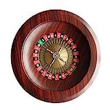 voloki Hölzernes Roulette-Rad Party-Roulette-Rad-Set Unterhaltungs-Freizeit-Tischspiele für...