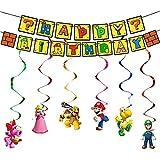 Super Mario Geburtstag Dekorationen Super Mario Hängende Wirbel Dekorationen Super Mario Thema...
