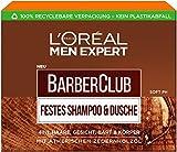 L'Oréal Men Expert Barber Club Festes Shampoo, ein Stück Shampoo für Männer im Seifenformat mit...
